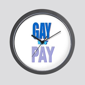 Gay For Pay Wall Clock