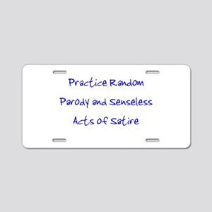 Random Parody/Senseless Satir Aluminum License Pla