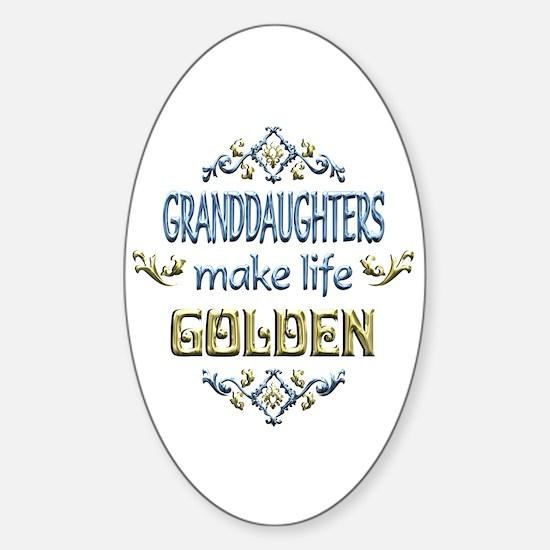 Granddaughter Sentiments Sticker (Oval)
