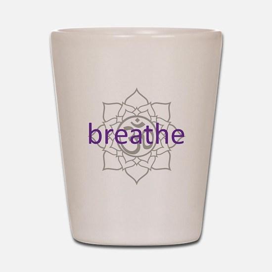 breathe Om Lotus Blossom Shot Glass