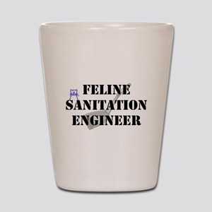 Feline Sanitation Engineer Shot Glass