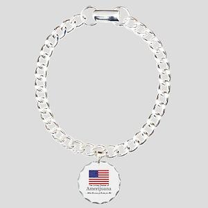 Amerijuana Charm Bracelet, One Charm