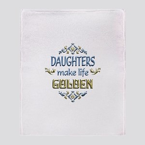 Daughter Sentiments Throw Blanket