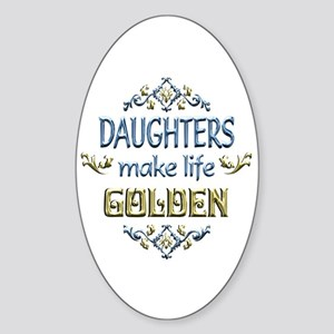 Daughter Sentiments Sticker (Oval)