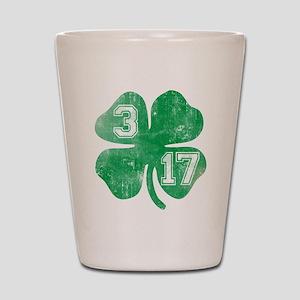 St Patricks Day 3/17 Shamrock Shot Glass
