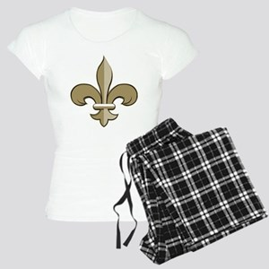 Fleur de lis black gold Women's Light Pajamas