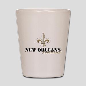 New Orleans Louisiana gold Shot Glass