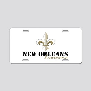 New Orleans Louisiana gold Aluminum License Plate