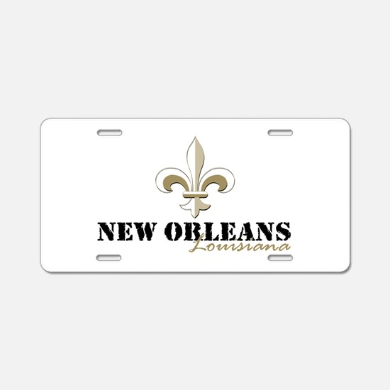 Unique New orleans Aluminum License Plate