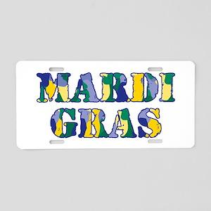 Mardi Gras RS Camo Aluminum License Plate