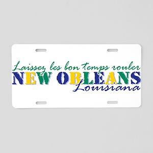 NOLA Laissez tri Aluminum License Plate