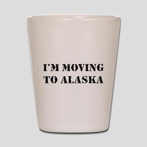 Moving to Alaska Shot Glass