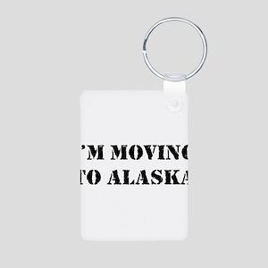 Moving to Alaska Aluminum Photo Keychain