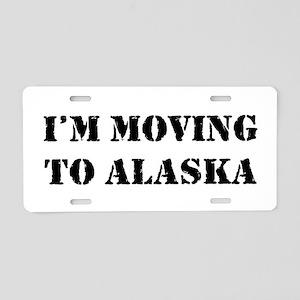 Moving to Alaska Aluminum License Plate