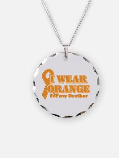 I wear orange brother Necklace