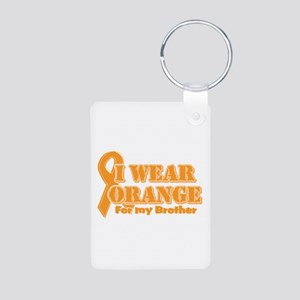I wear orange brother Aluminum Photo Keychain