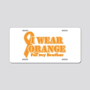 I wear orange brother Aluminum License Plate