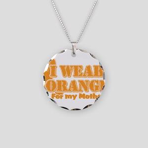 I wear orange mother Necklace Circle Charm