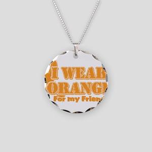 I wear orange friend Necklace Circle Charm