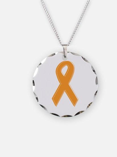Orange Aware Ribbon Necklace