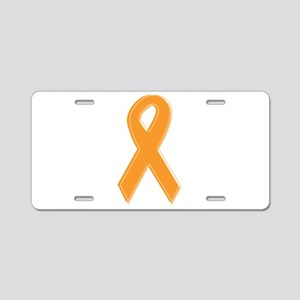 Orange Aware Ribbon Aluminum License Plate
