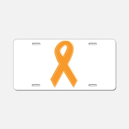 Orange Aware Ribbon Aluminum License Plate