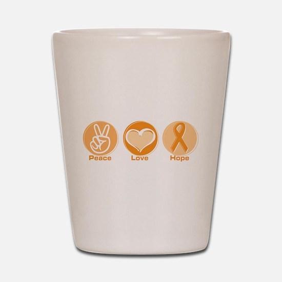 Peace Love Orange Hope Shot Glass