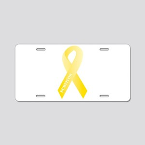 Yellow Ribbon Survivor Aluminum License Plate
