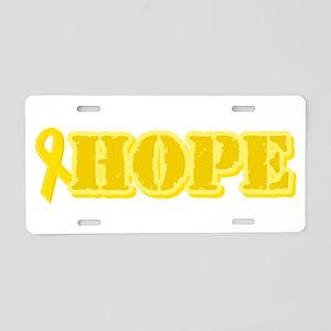Hope Yellow ribbon Aluminum License Plate