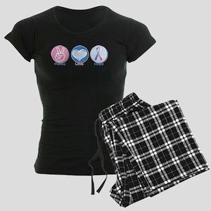 Peace Love BlPk Hope Women's Dark Pajamas