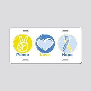 Peace Love DS hope Aluminum License Plate