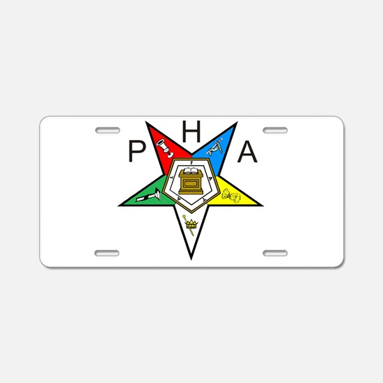 PHA Eastern Star Aluminum License Plate