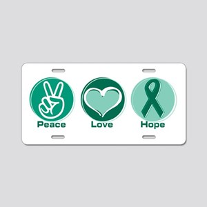 Peace Love Gr Hope Aluminum License Plate
