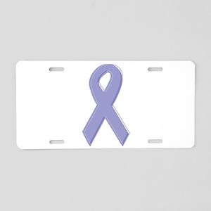 Lavender Awareness Ribbon Aluminum License Plate