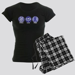 Peace Love Purple Hope Women's Dark Pajamas