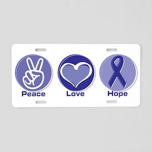 Peace Love Pur Hope Aluminum License Plate