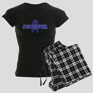 Purple Ribbon Survivor Women's Dark Pajamas