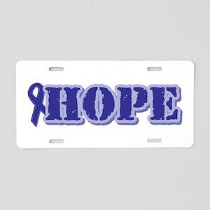Purple Hope Ribbon Aluminum License Plate