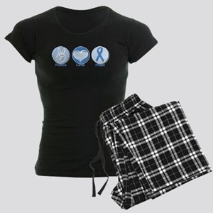 Peace LtBl Hope Women's Dark Pajamas