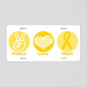 Peace Yel Hope Aluminum License Plate