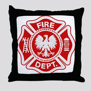 Polish Firemen Throw Pillow