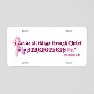 Philippians 4:13 pk Aluminum License Plate