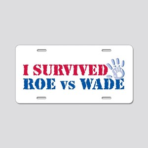 Roe vs Wade (hand) Aluminum License Plate