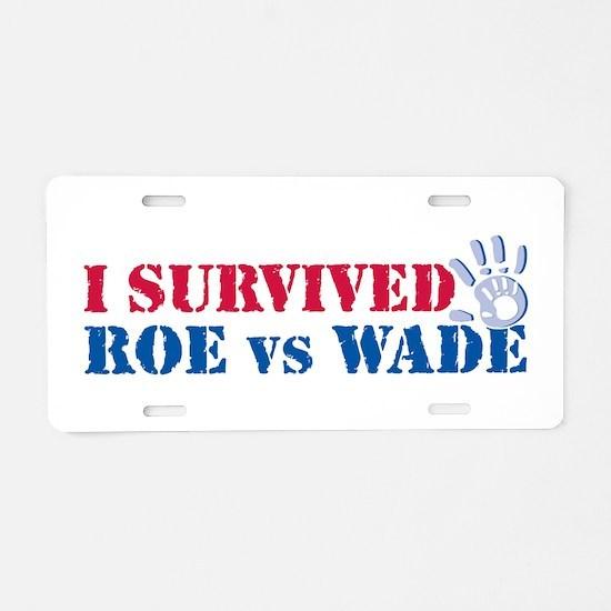 Roe vs Wade (hand) Aluminum License Plate