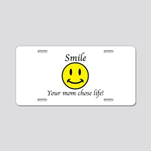 Smile Jesus Aluminum License Plate
