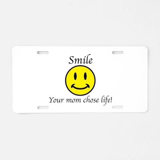 Smile life Aluminum License Plate