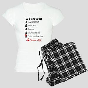 We Protect Women's Light Pajamas