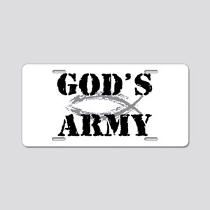 God's Army Aluminum License Plate