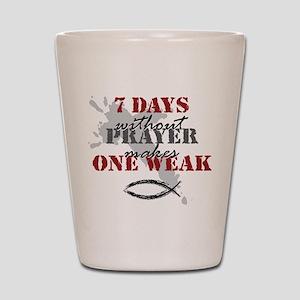 7 days Shot Glass