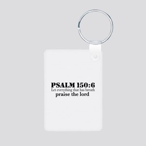 Psalms 150:6 (pl) Aluminum Photo Keychain